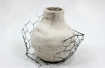 Vessel with Caged Nest